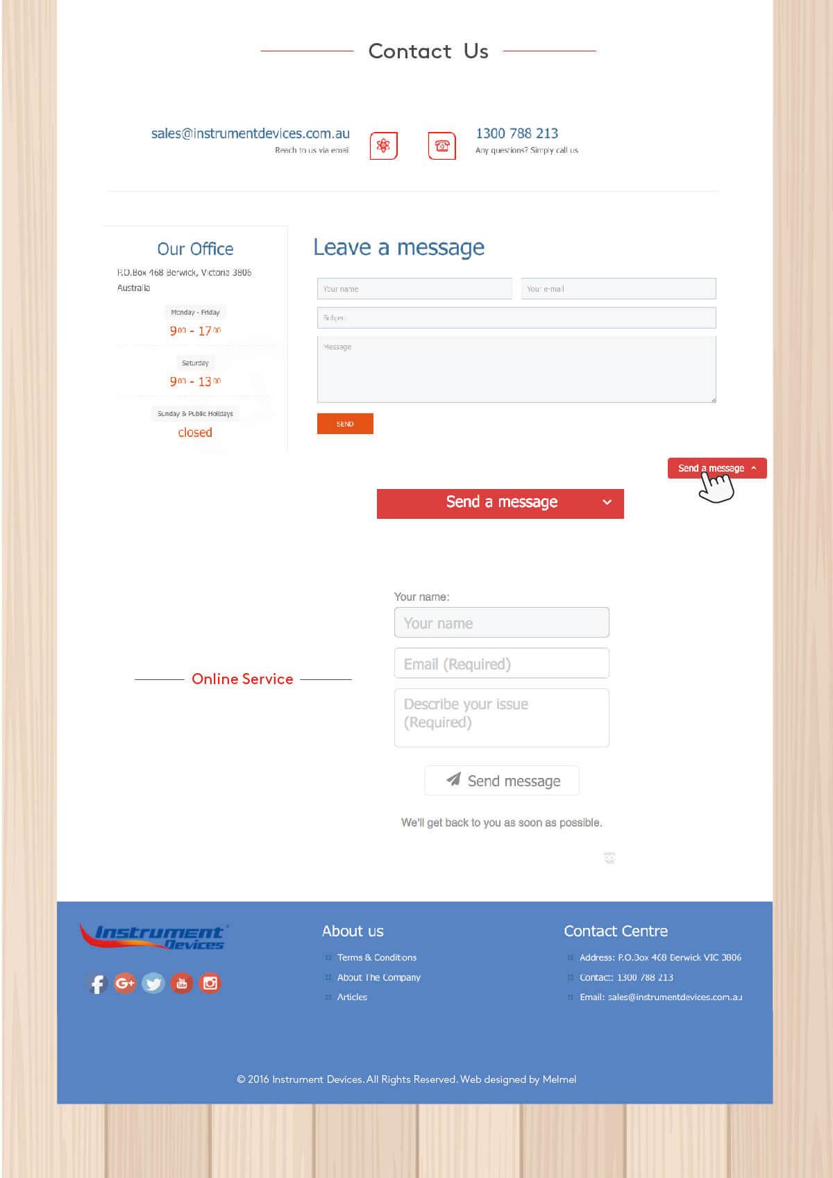 墨尔本Instrument Devices网站设计