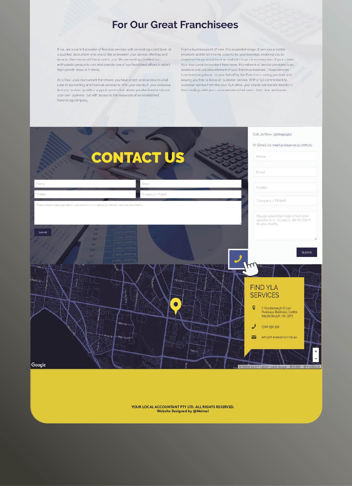 墨尔本 YLA Services 网站设计